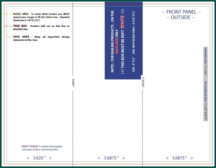 Standard Tri Fold Brochure Dimensions