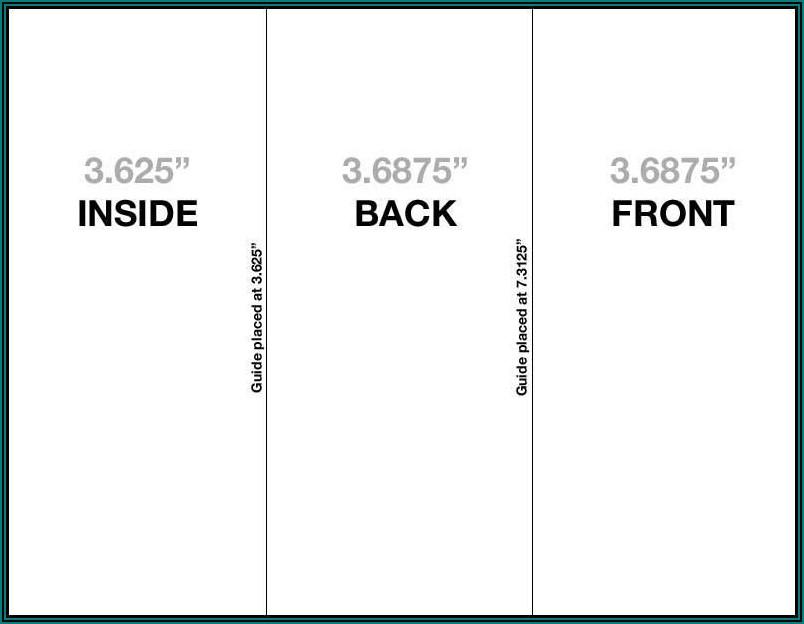 Standard Tri Fold Brochure Size