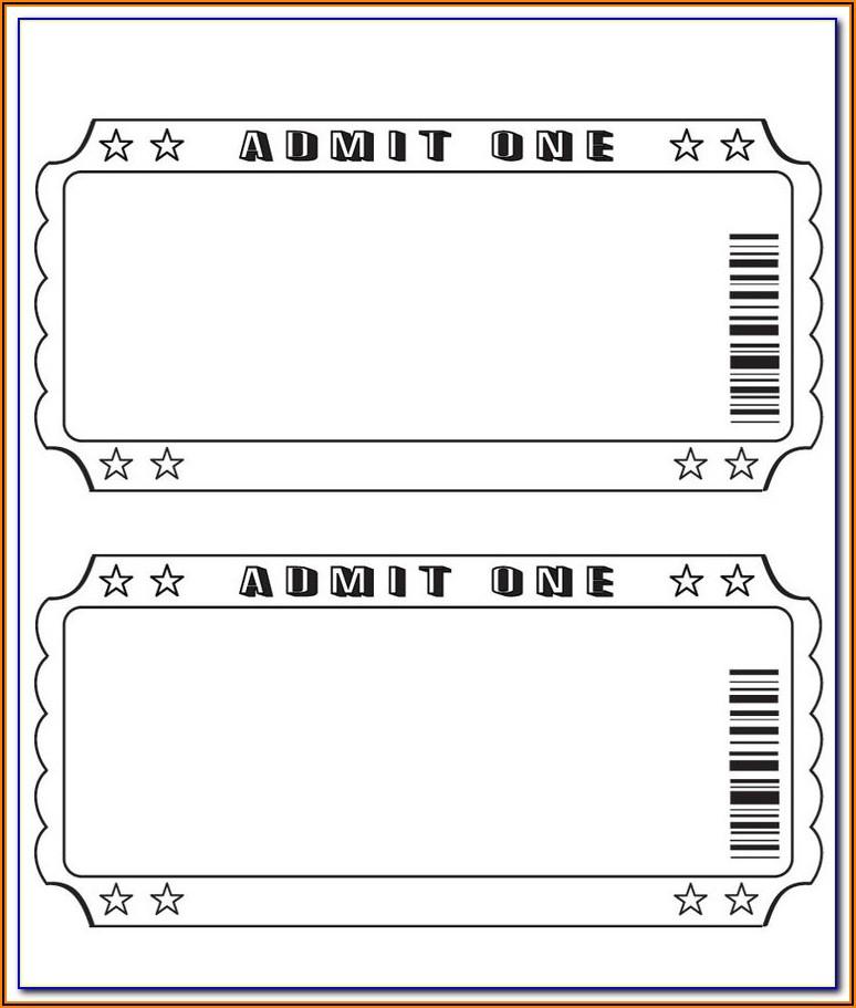 Staples Printable Ticket Template