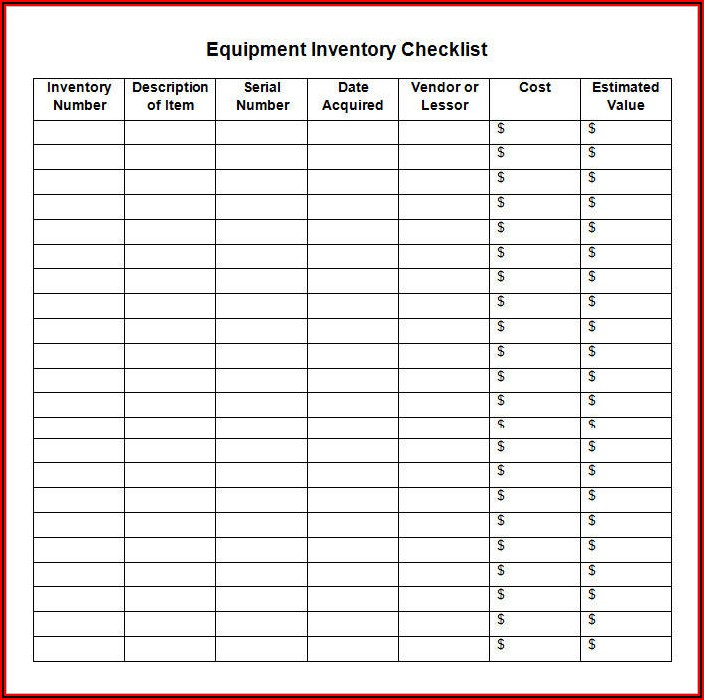 Stock Tracking Spreadsheet Template