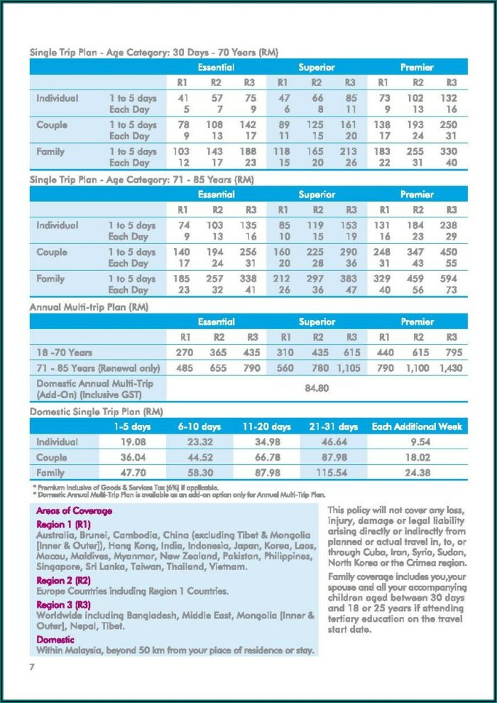 Tata Aig Travel Insurance Brochure Pdf