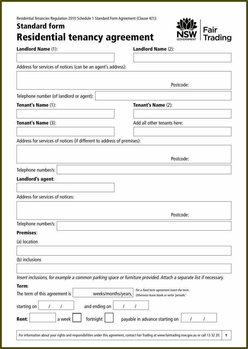 Tenants In Common Agreement Example