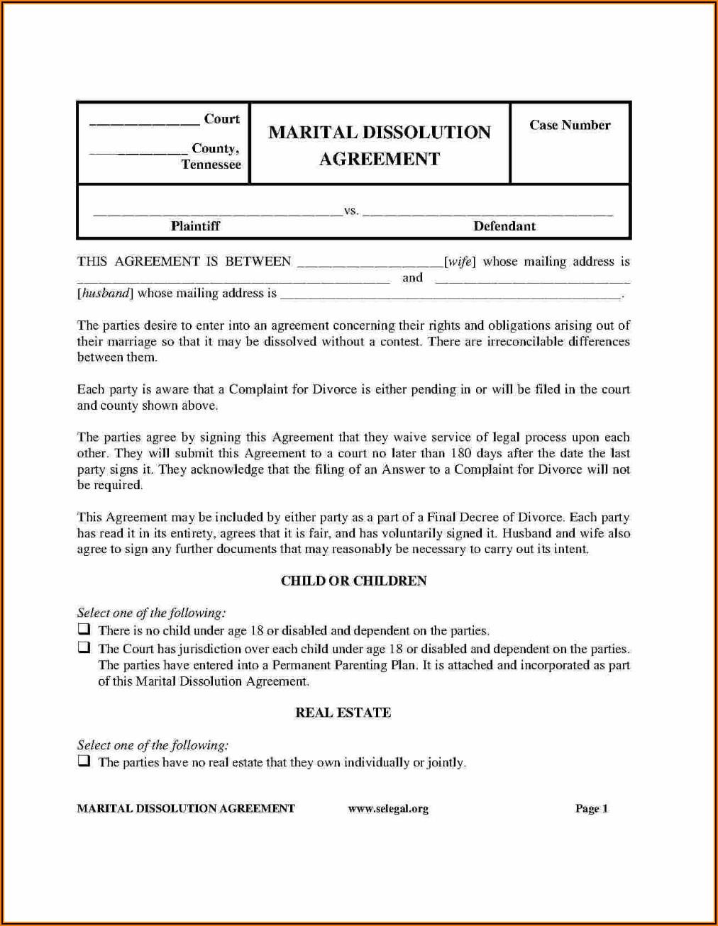 Texas Postnuptial Agreement Form Pdf
