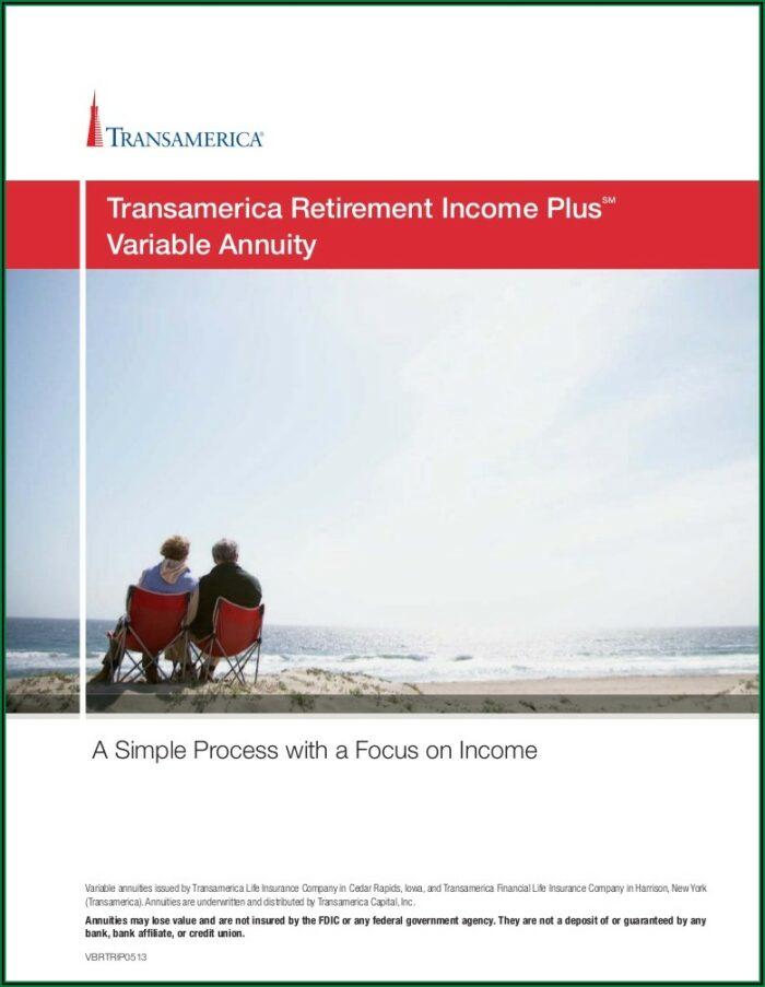 Transamerica Retirement Income Max Brochure