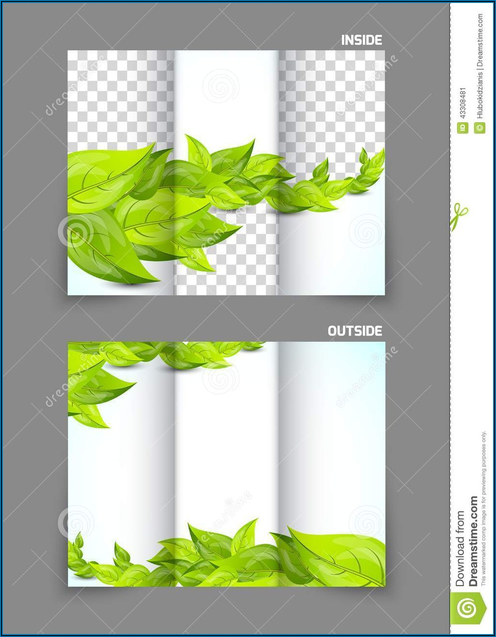 Tri Fold Brochure Background Design Vector Free Download