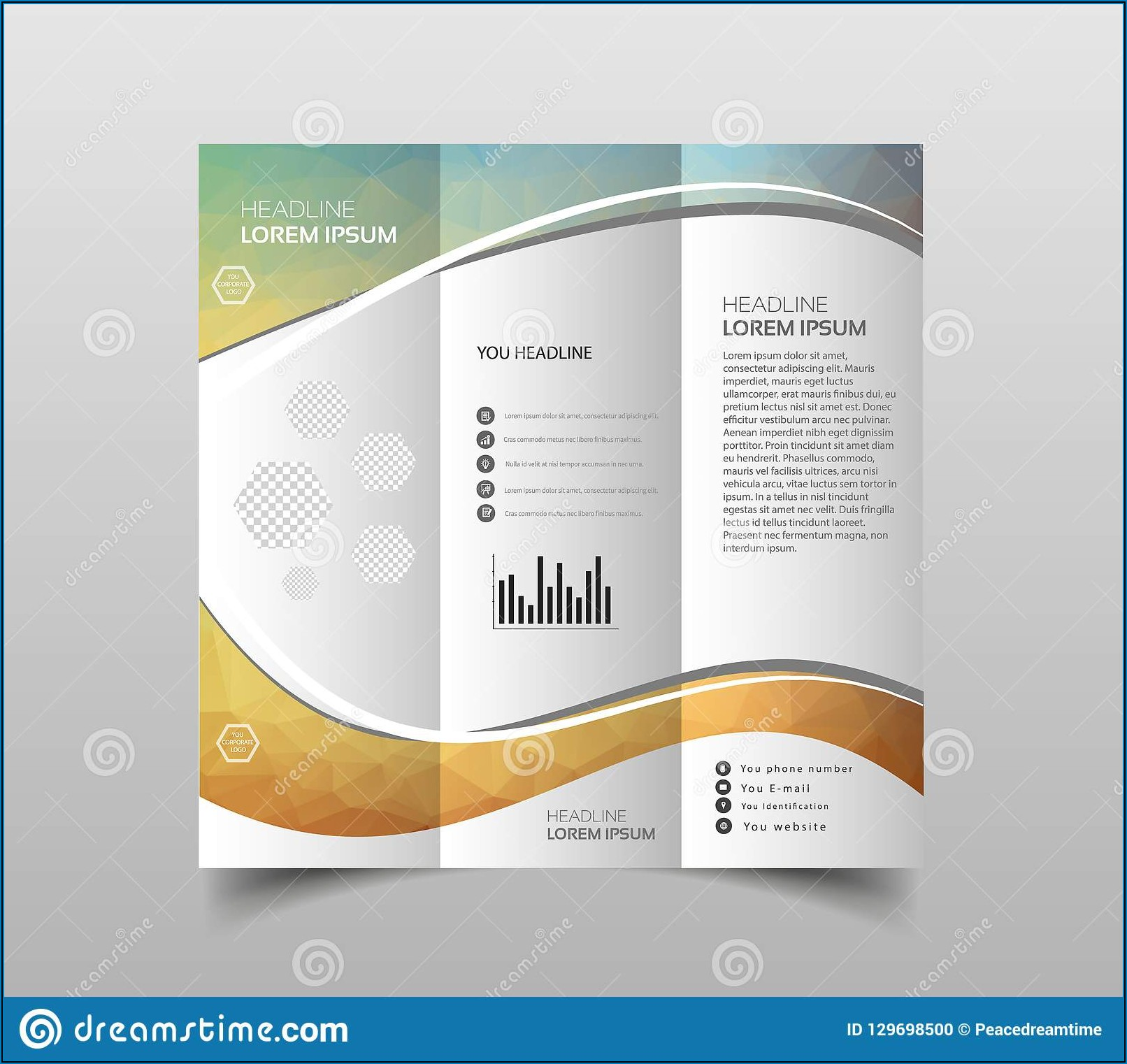 Tri Fold Brochure Background Design