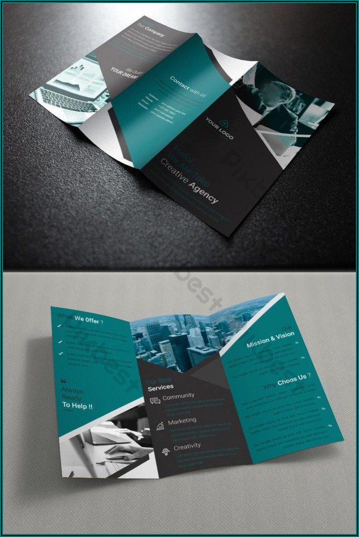 Tri Fold Brochure Template Ai Free Download