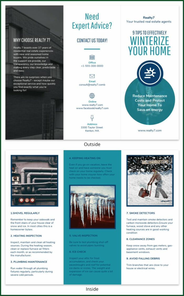 Tri Fold Informational Brochure Template