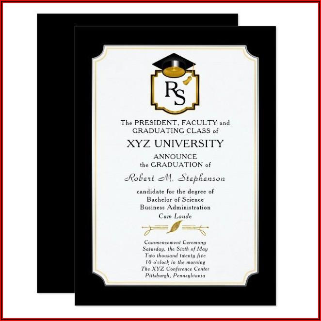University Graduation Announcement Template