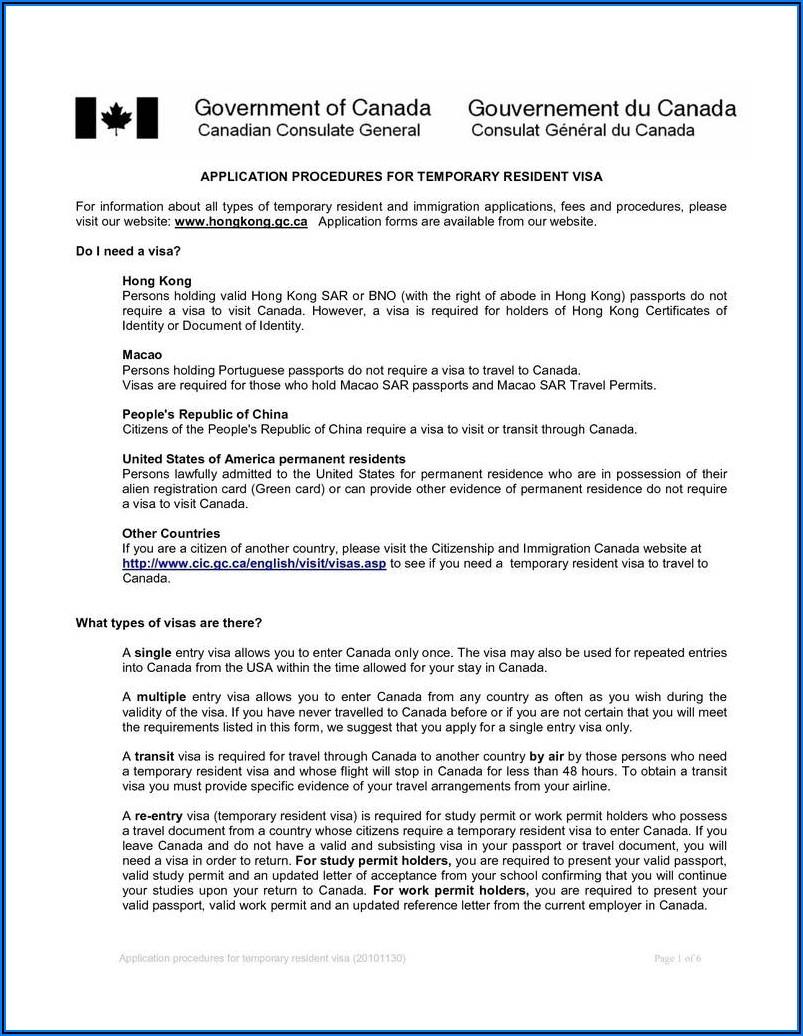 Visa Invitation Letter Canada