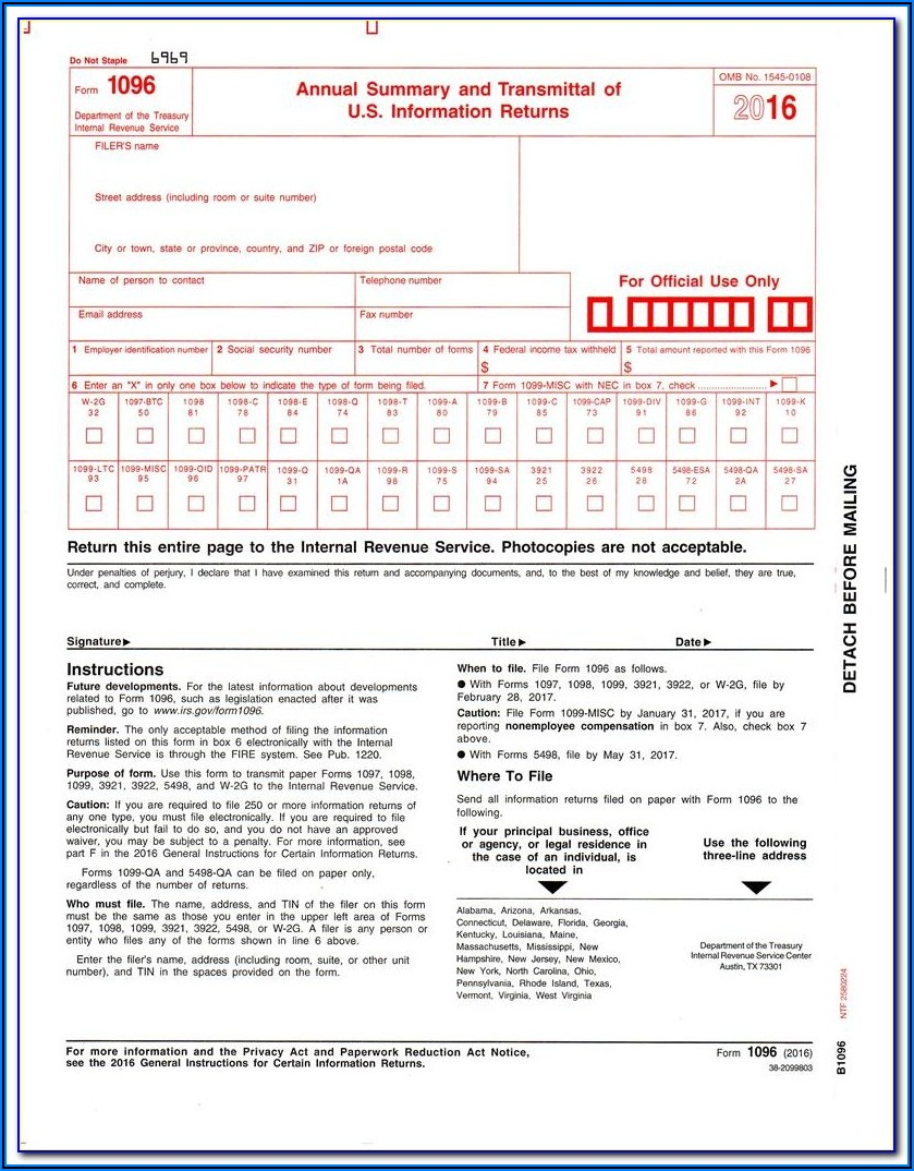Where To Send Colorado 1099 Forms