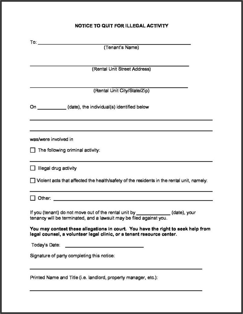 Wisconsin 14 Day Eviction Notice Form