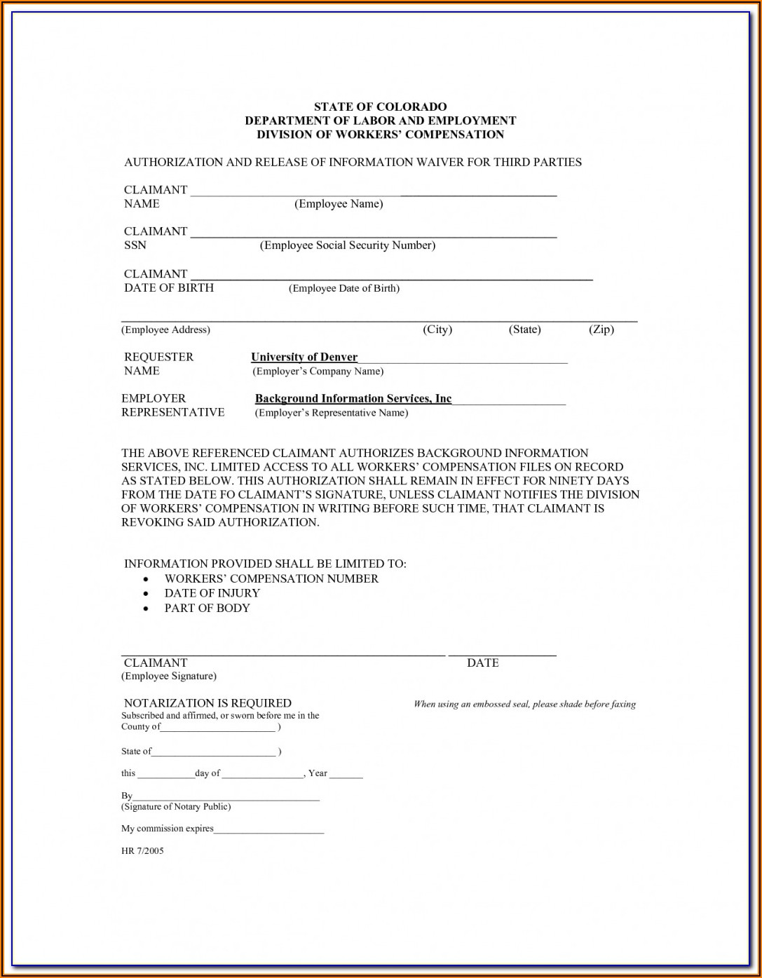 Workers' Compensation Waiver Form For Independent Contractors Texas