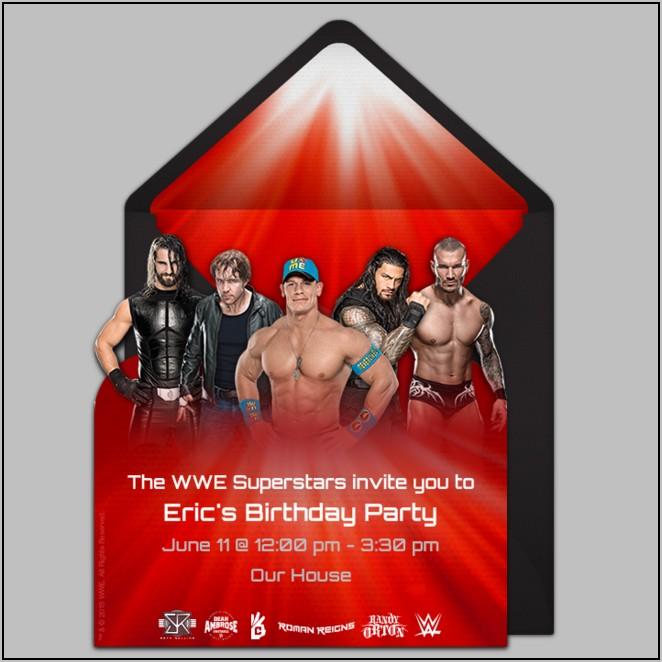 Wwe Birthday Party Invitation Templates