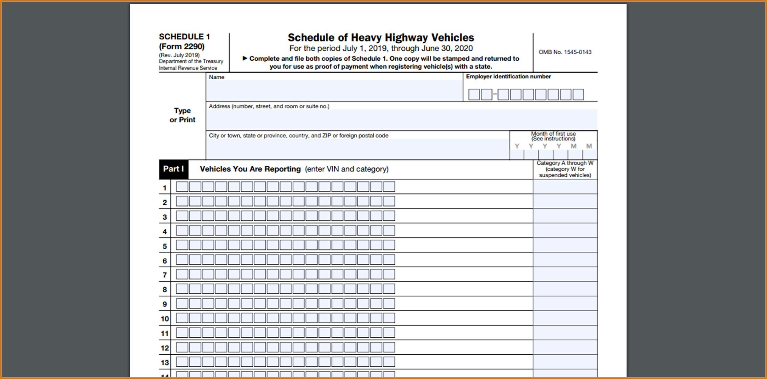 Www.irs.gov 2290 Form