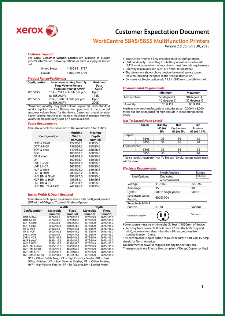 Xerox 5855 Brochure Pdf
