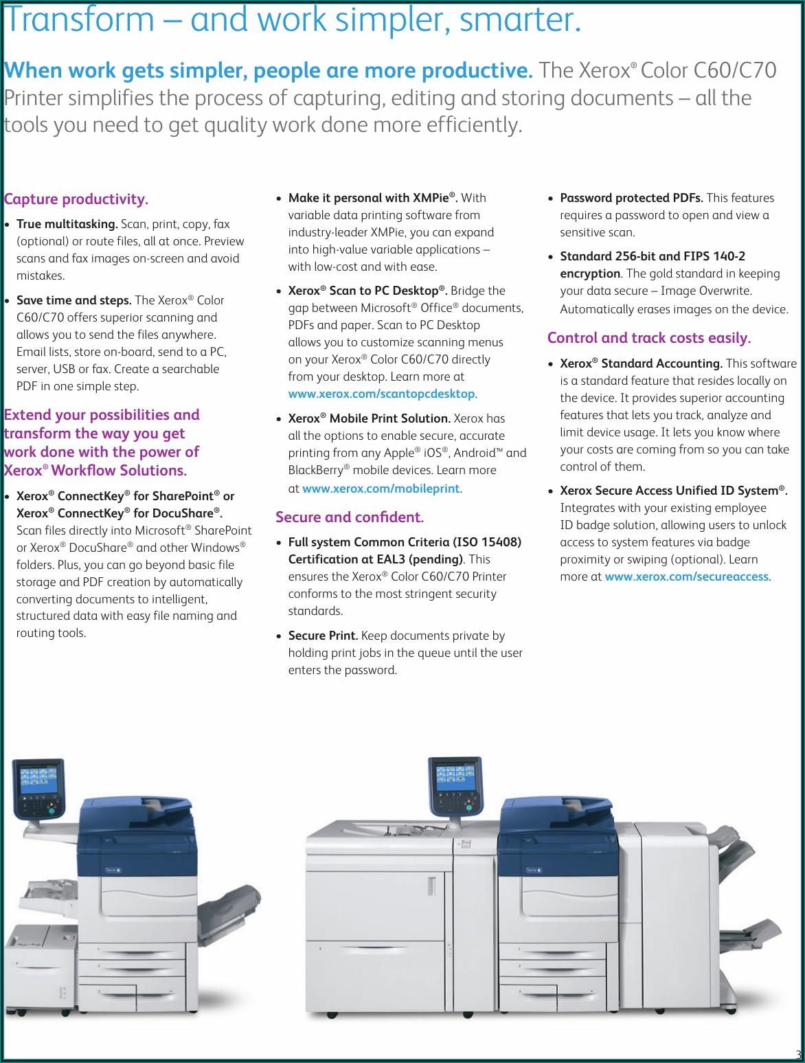 Xerox C60 Brochure Pdf