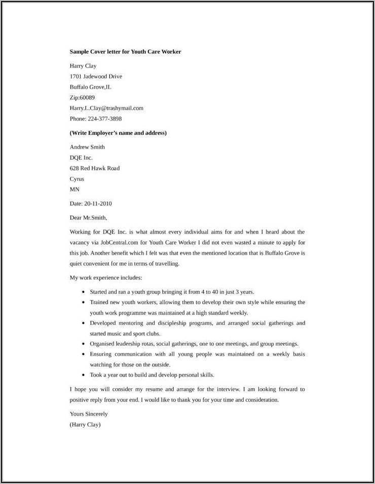 Youth Leader Resume Template