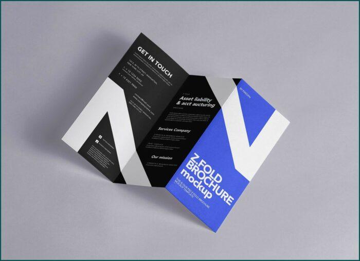 Z Fold Brochure Mockup Free