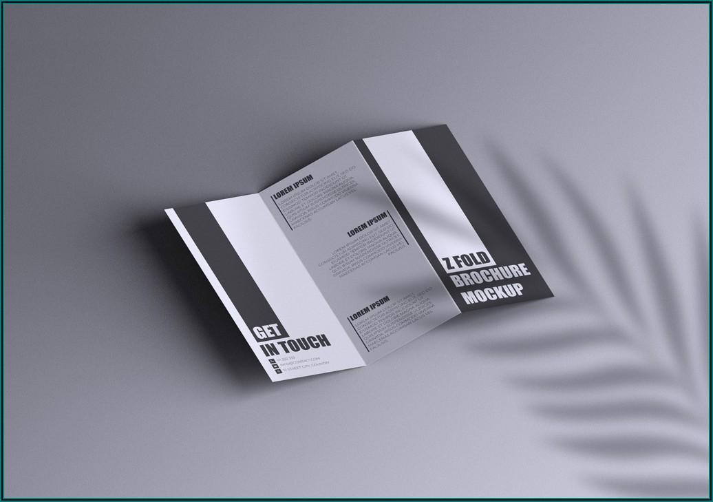 Z Fold Brochure Mockup