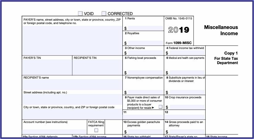 1099 Form Filing Info