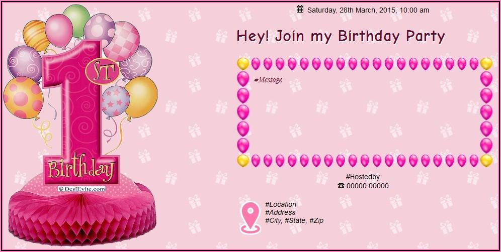 1st Birthday Invitation Card For Baby Boy In Marathi