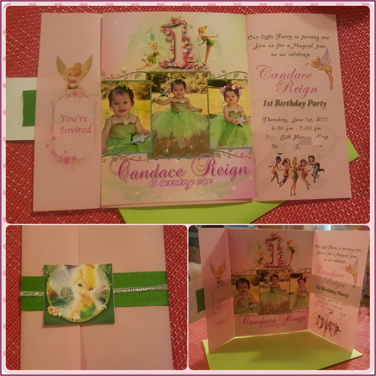 1st Birthday Invitation Card For Baby Girl