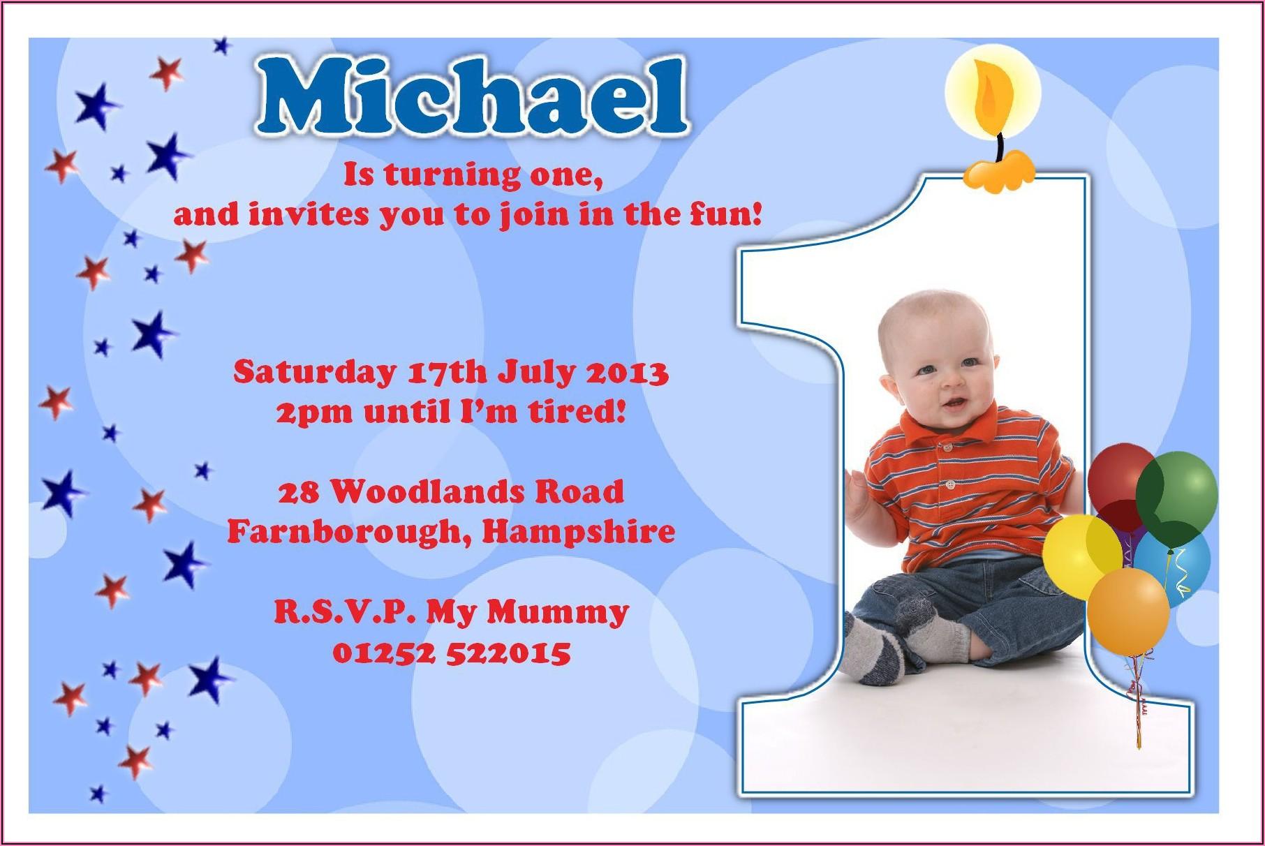 1st Birthday Invitation Card Maker For Baby Boy