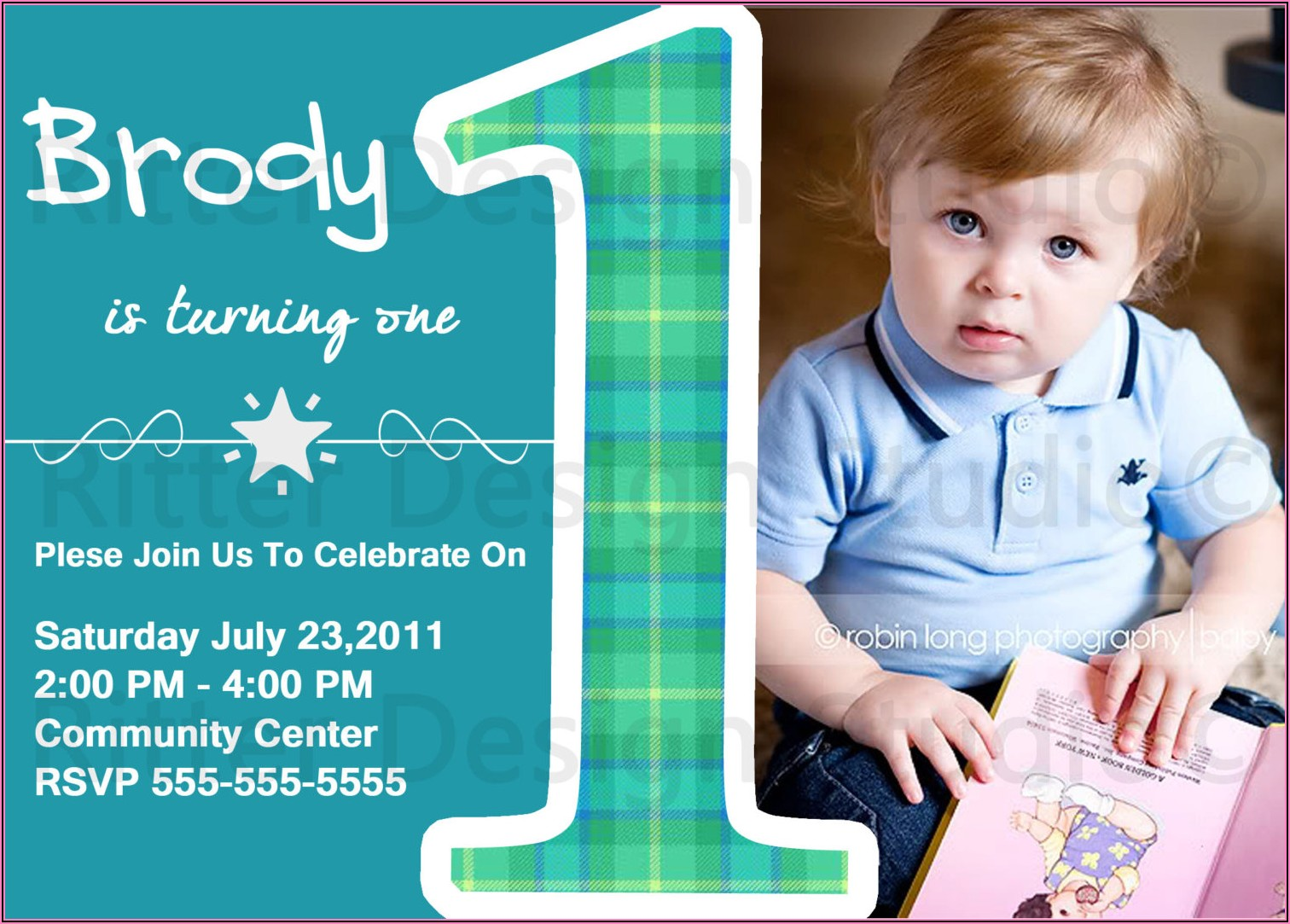 1st Birthday Invitation Message For Baby Boy In English