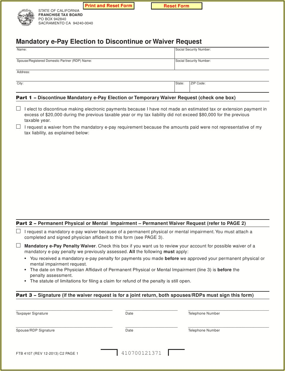 2013 Ca State Tax Forms