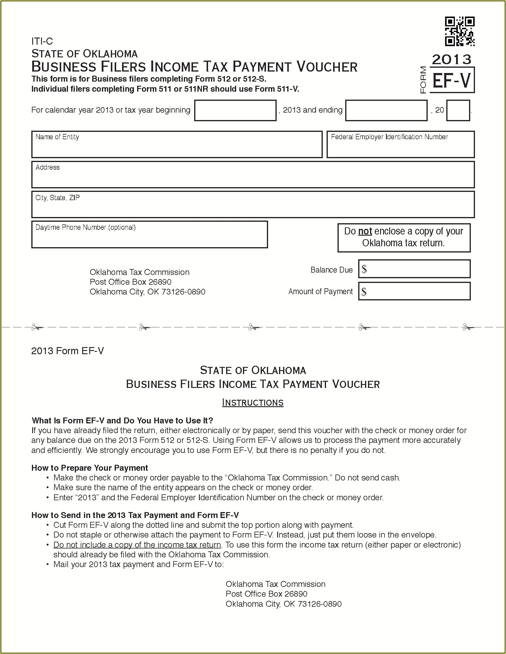 2013 Oklahoma State Tax Forms
