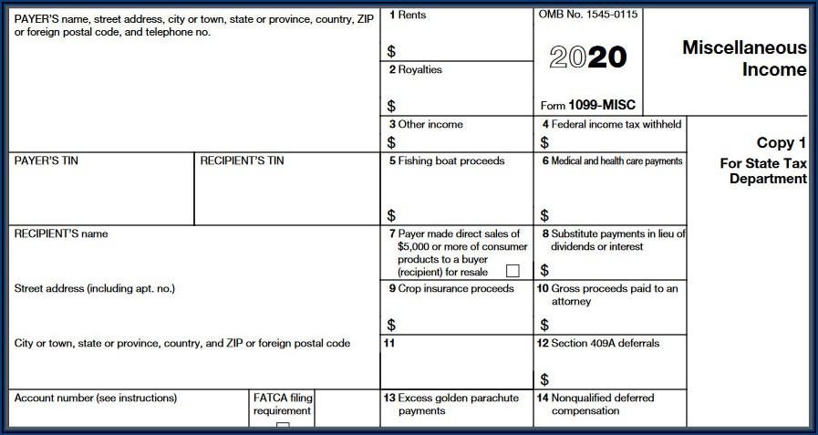 2019 Form 1099 Misc Box 3