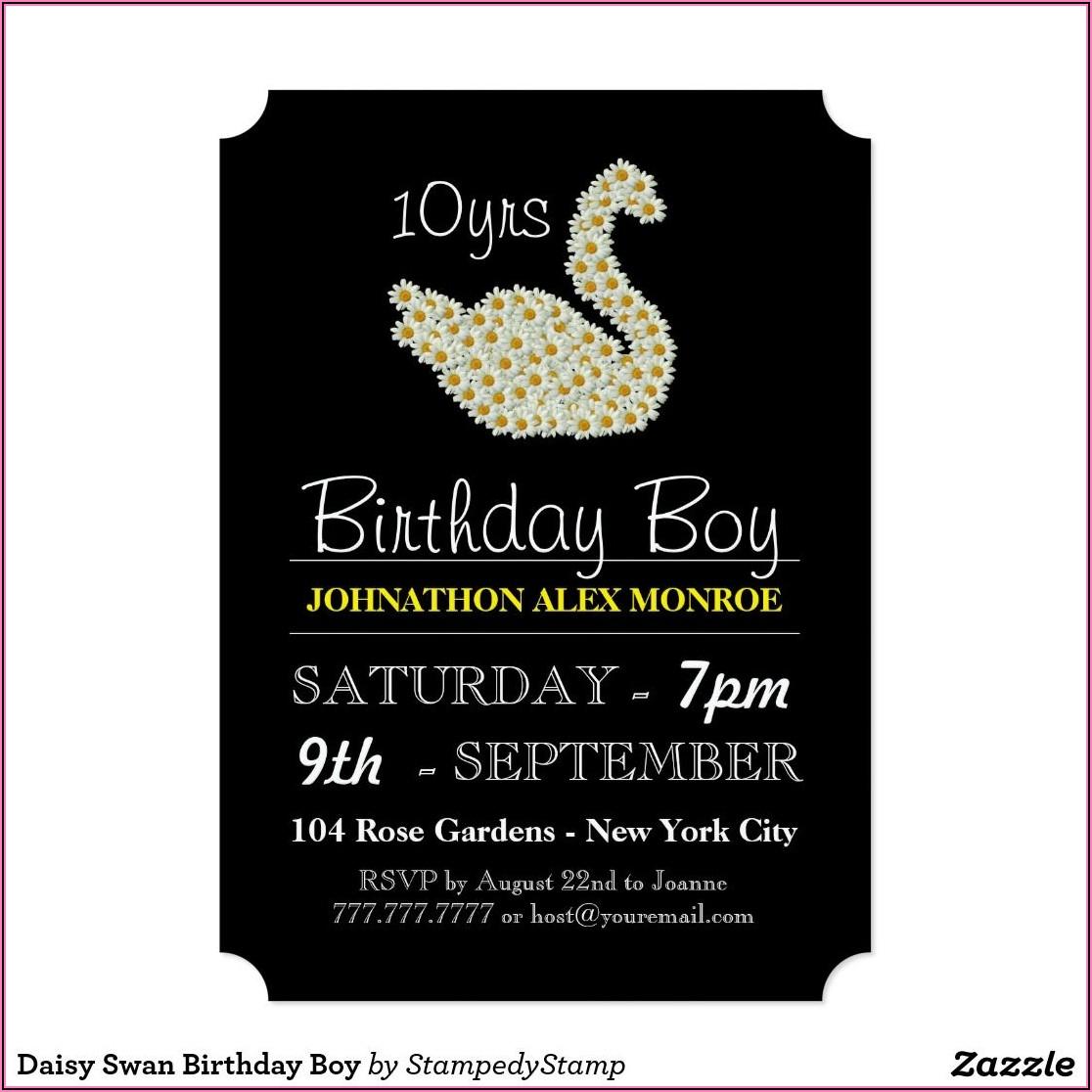 21st Birthday Invitations Boy