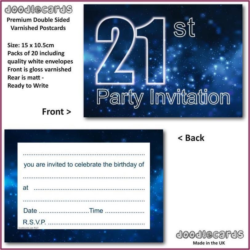 21st Birthday Invitations Male