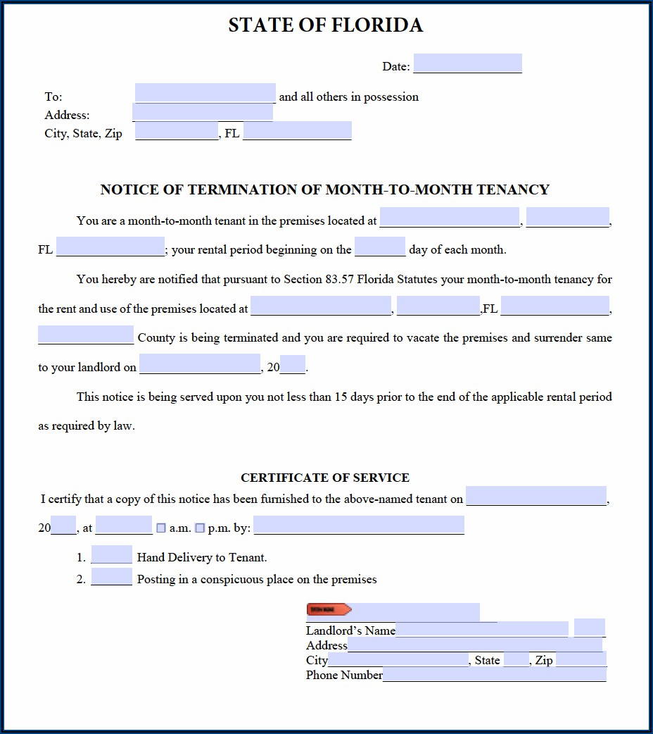 3 Day Notice To Evict Florida Form