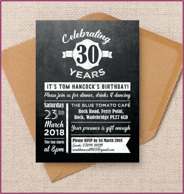30th Birthday Invitation For Her Ideas