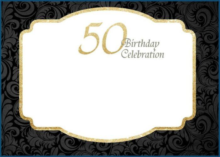 50th Birthday Invitations Templates Free