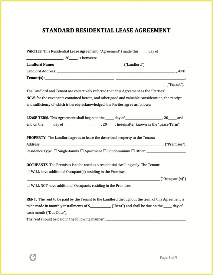 Alberta Residential Rental Forms
