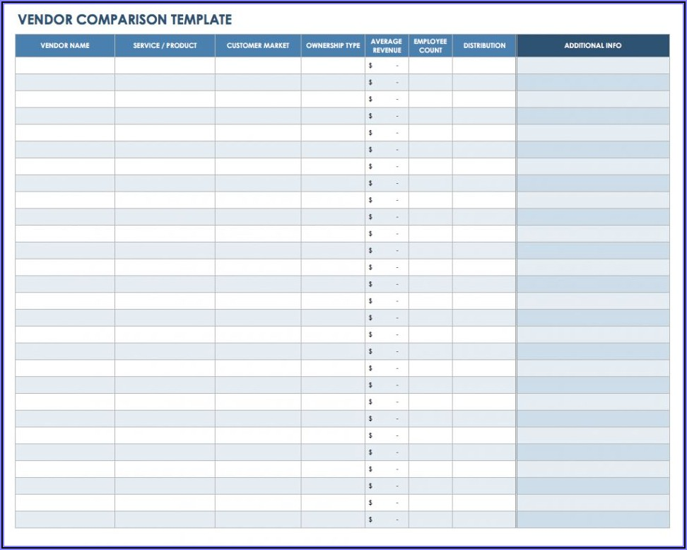 Approved Supplier List Template Excel