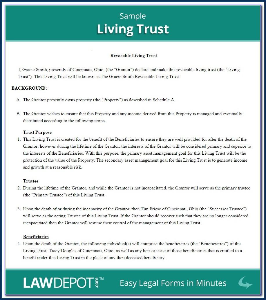 Arizona Living Trust Forms Free