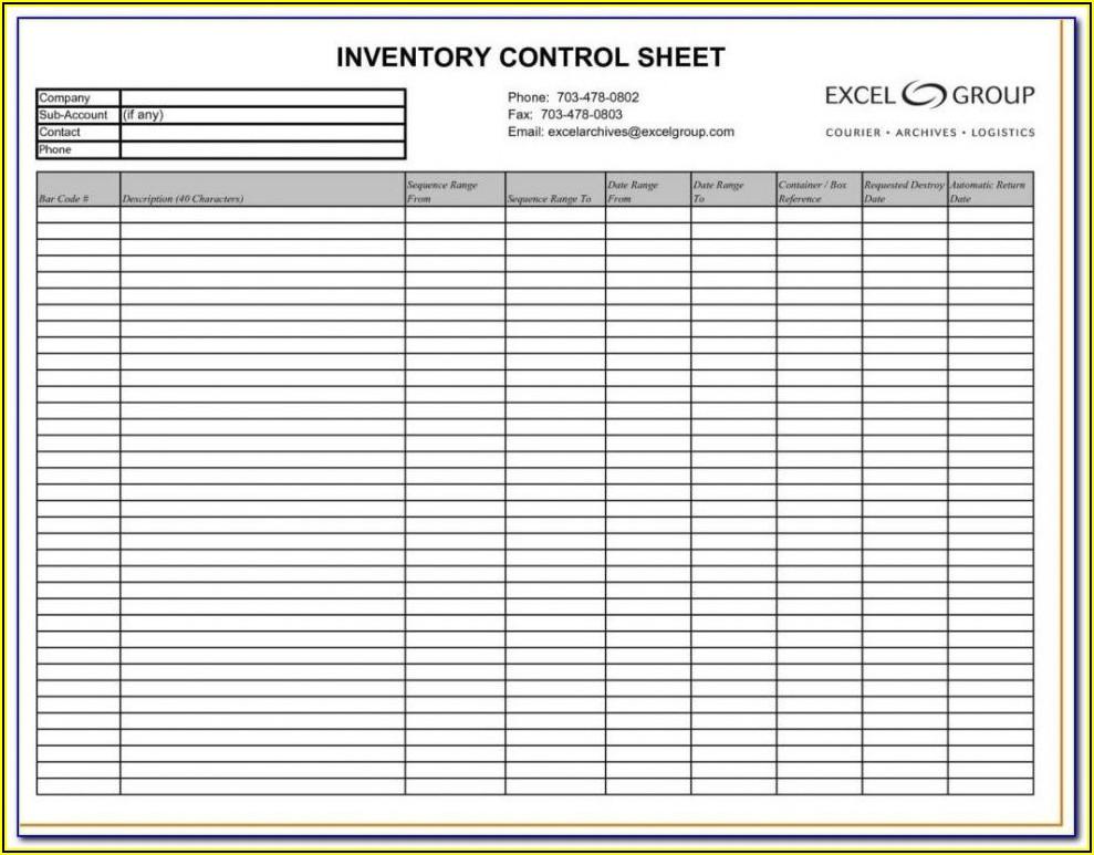 Asset Inventory Excel Sheet