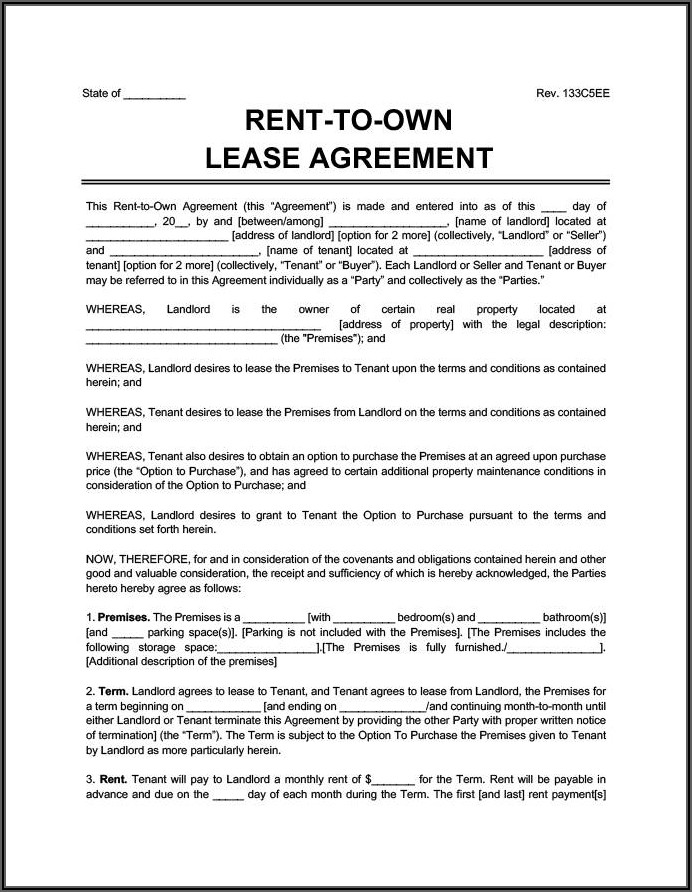 Auto Lease Contract Sample