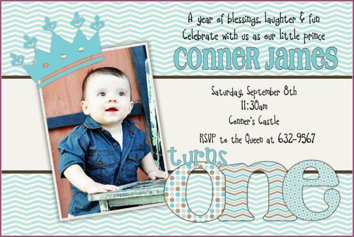 Baby Boy 1st Birthday Invitation Wording