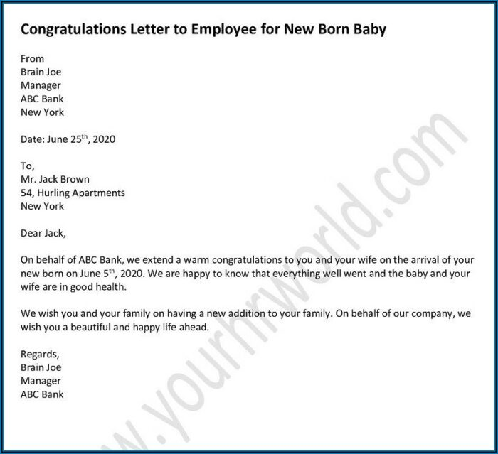 Baby Boy Employee New Baby Announcement Email