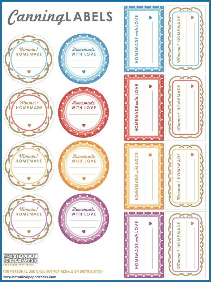 Ball Canning Jar Label Templates Free