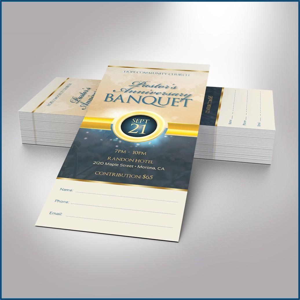Banquet Ticket Template Word