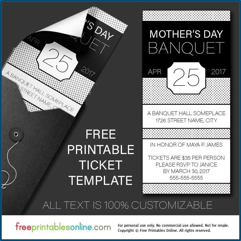 Banquet Ticket Template