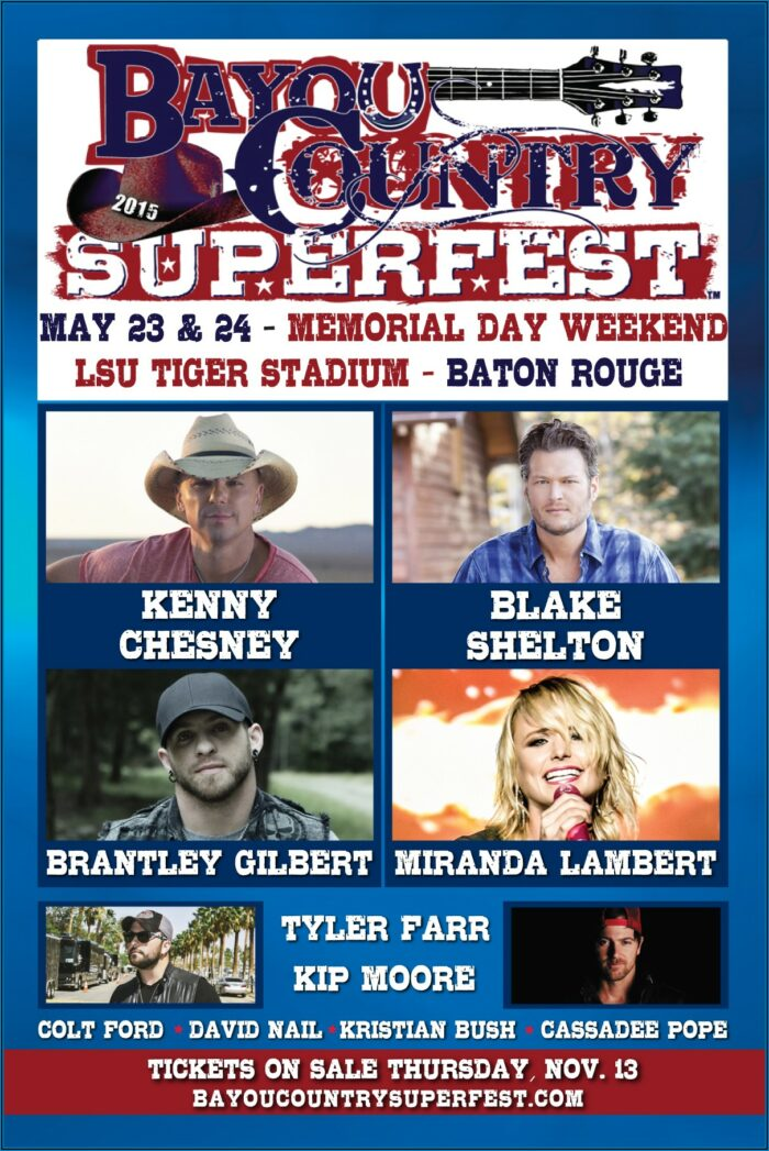 Bayou Country Superfest 2019 Lineup Announcement