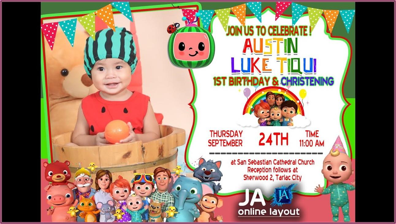 Birthday Invitation Layout Photoshop