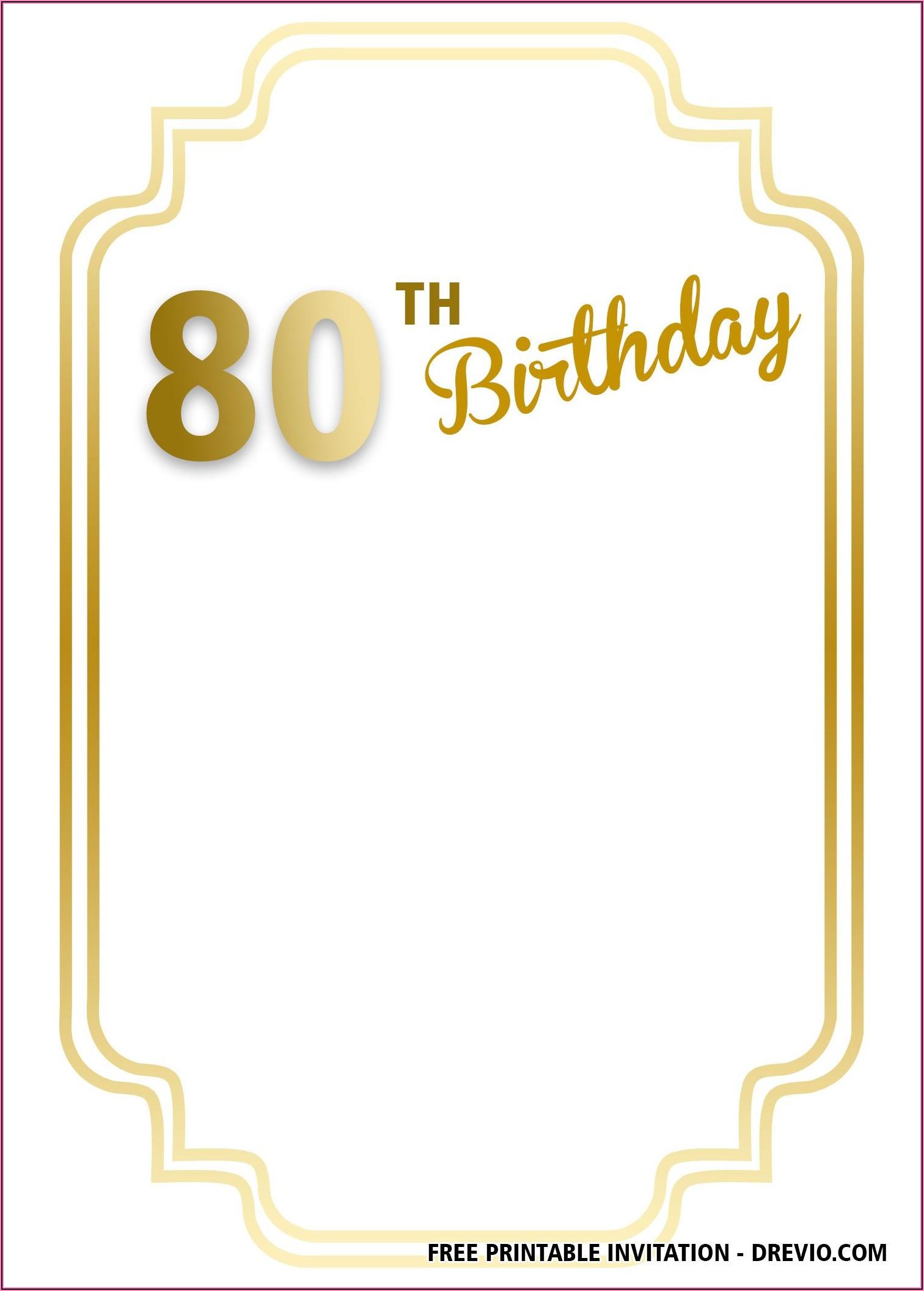 Birthday Invitation Templates Free Printable
